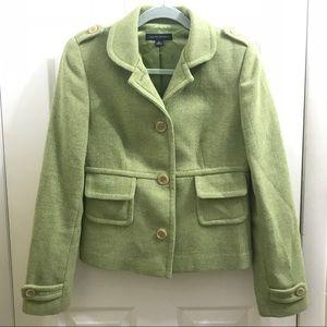 Green Wool Blazer by Banana Republic
